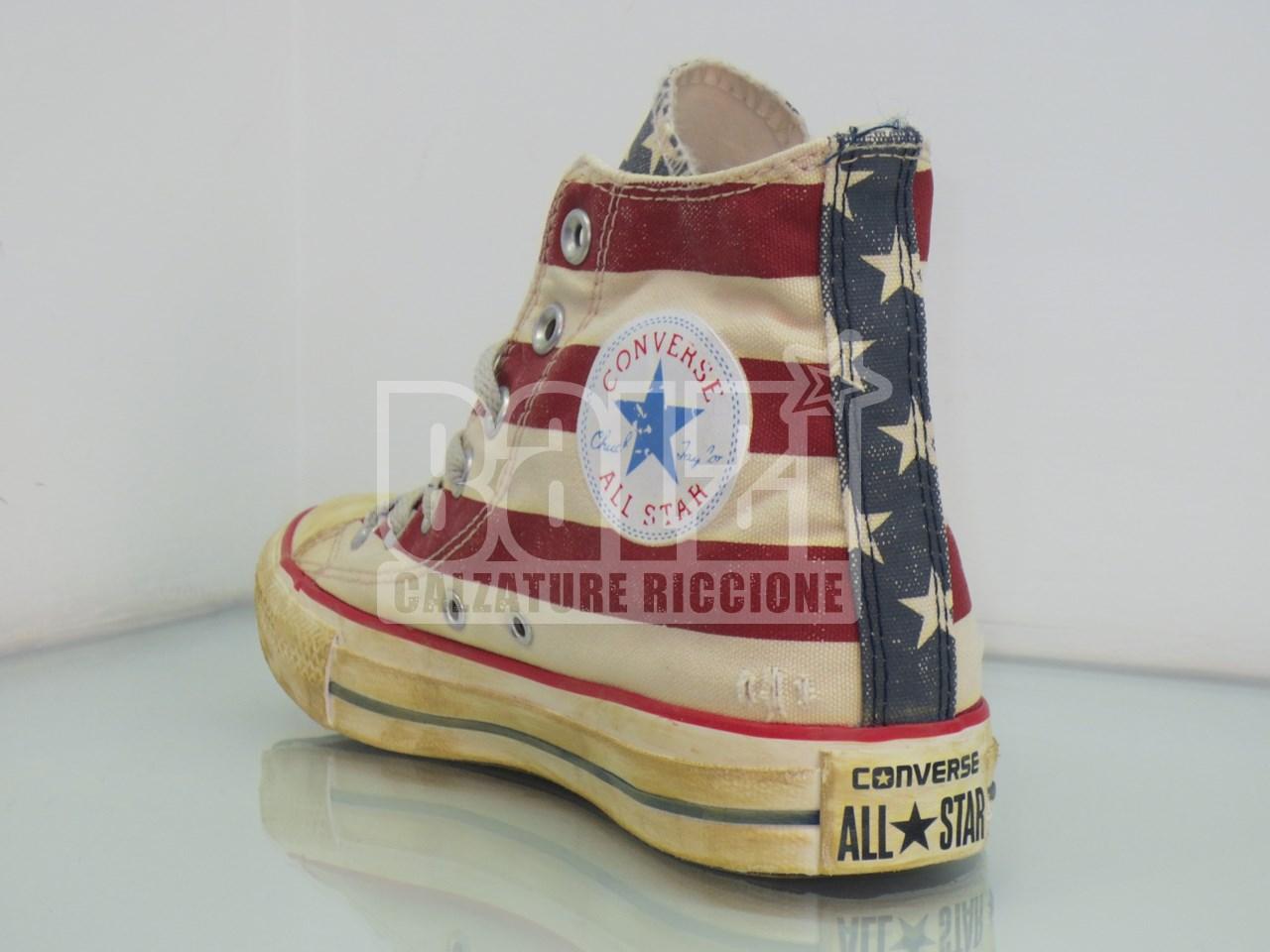converse donna alte bandiera americana