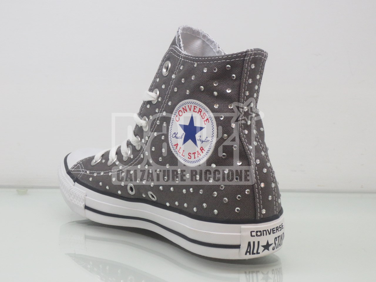 converse all star grigie alte