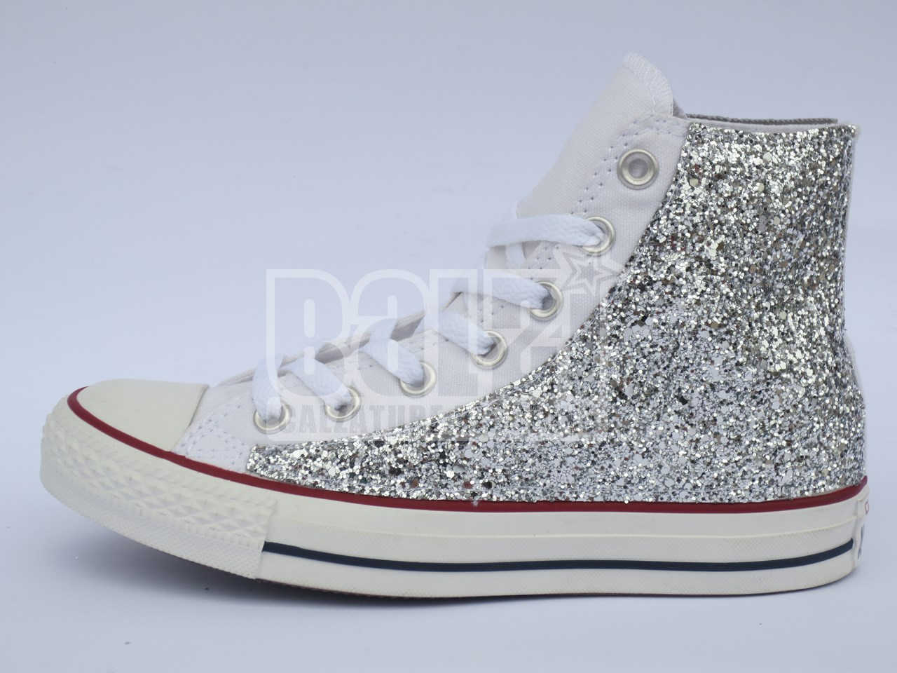 converse all star argento paillettes