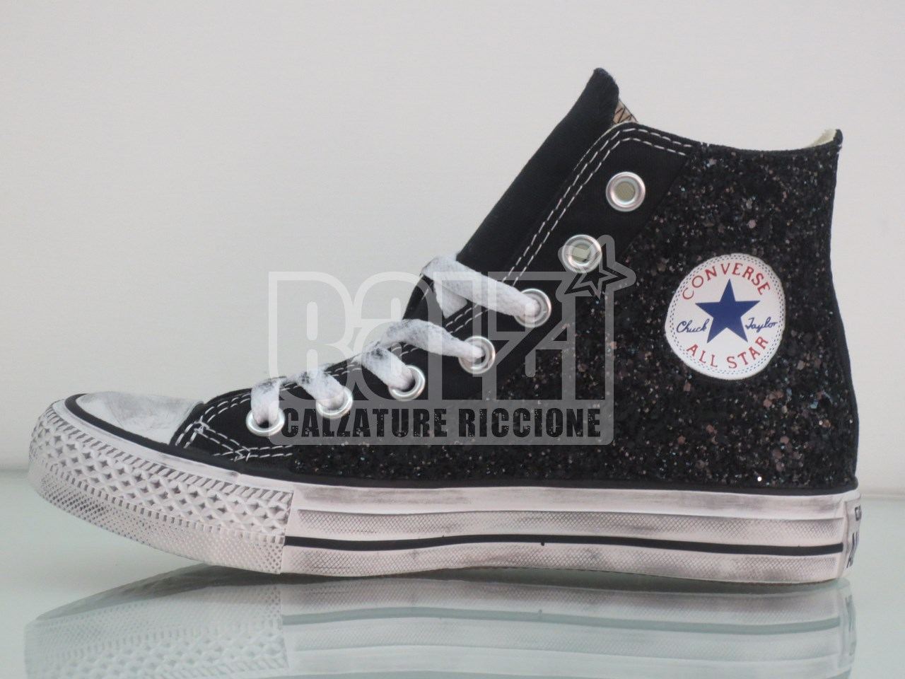 converse all star alte nere donna