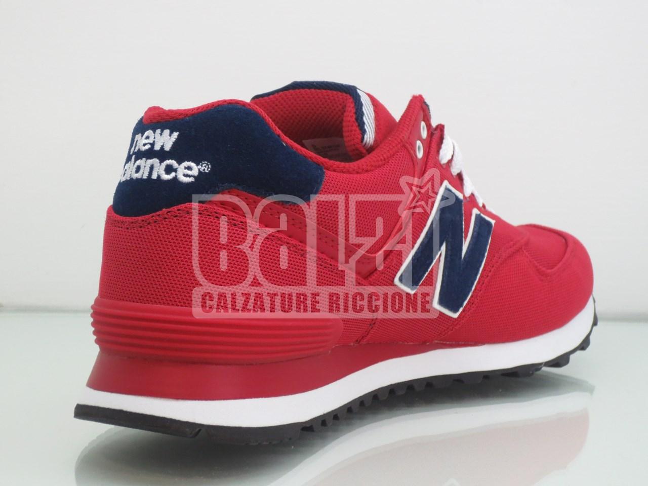 new balance 574 uomo red