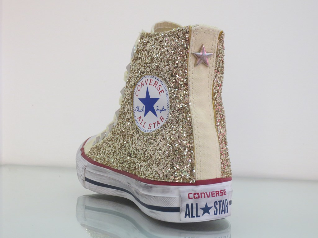 converse all star glitter bambina