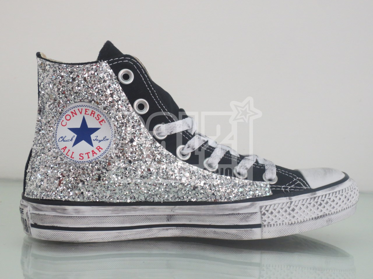 all star converse nere alte donna