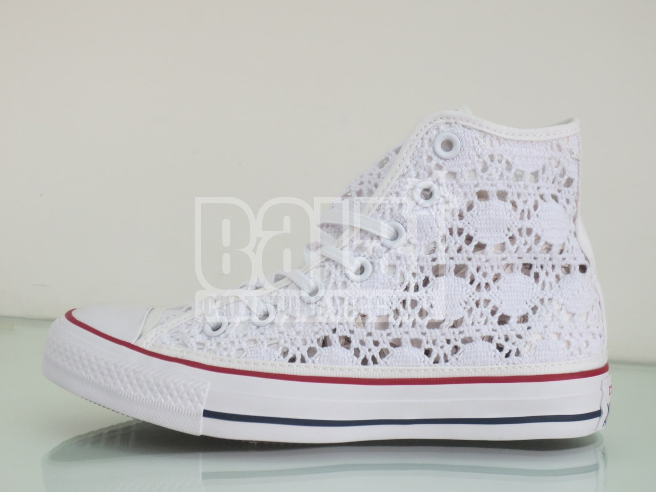 converse donna bianche pizzo