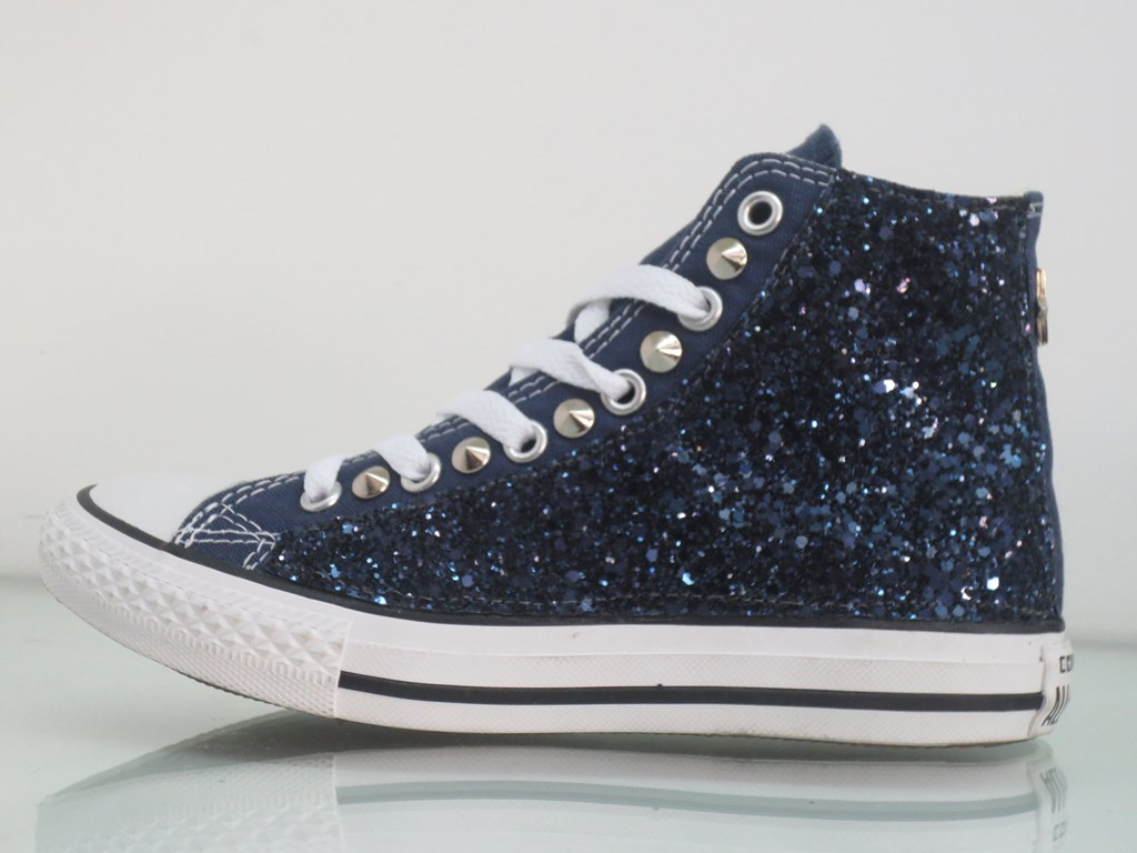 converse all star blu alte bambino