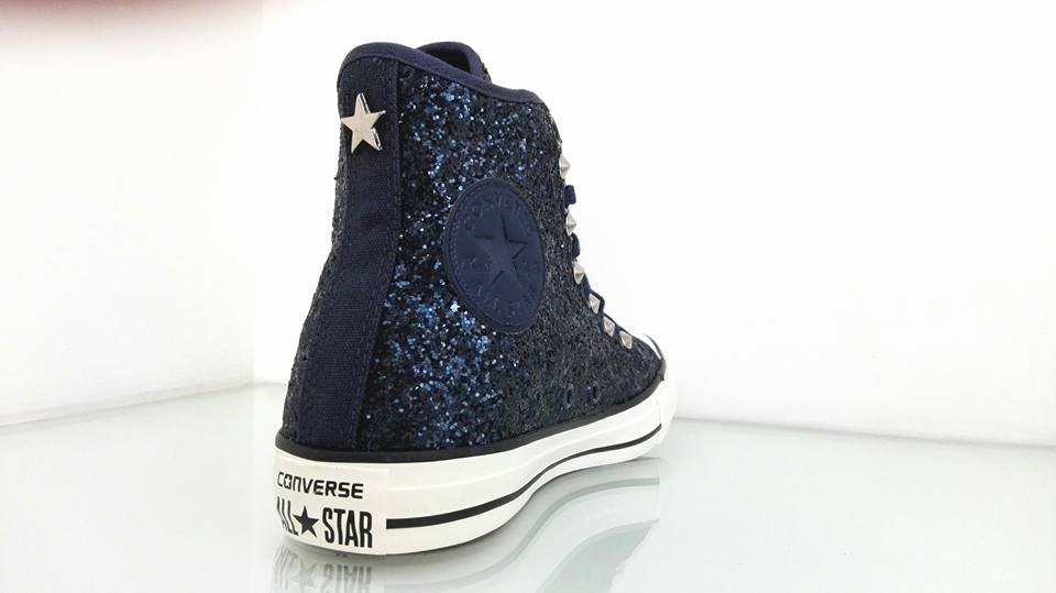converse glitterate blu