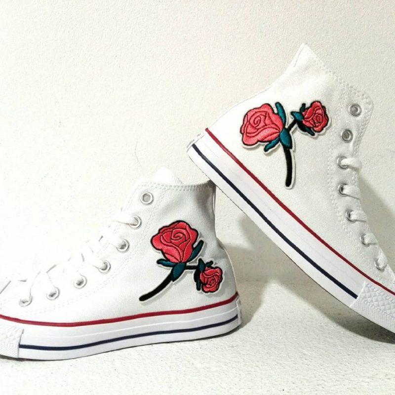 converse con fiori