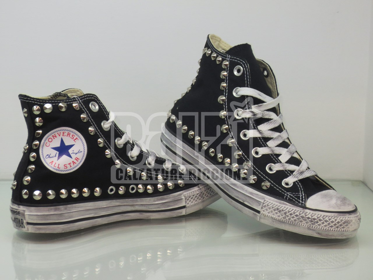 converse alte all star nero