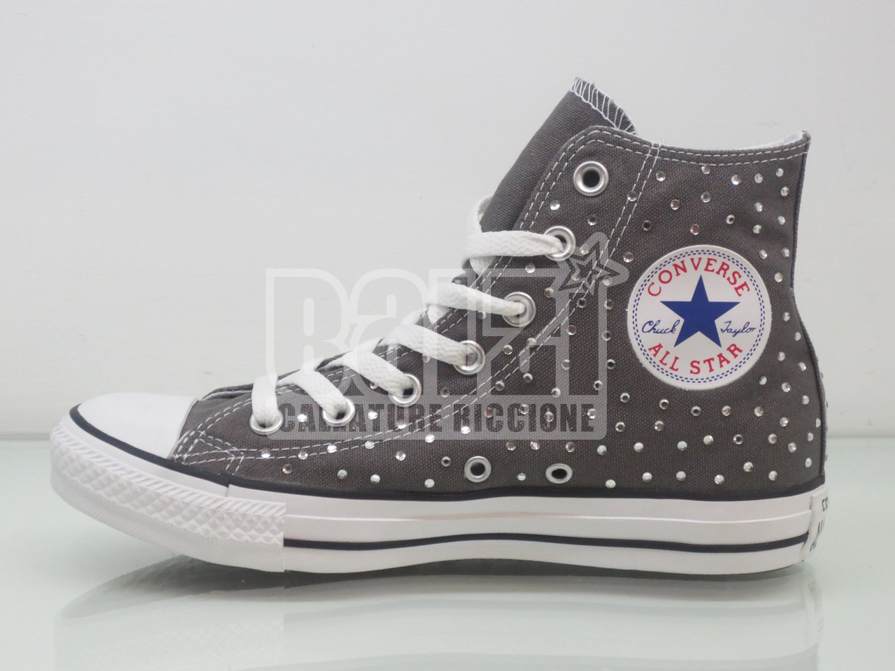 converse all star grigie nere