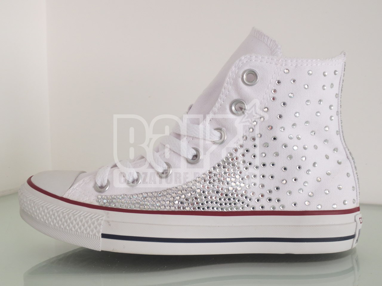 Converse Star Personalizzate Sposa All Strass Bianche oeQCxrWdBE