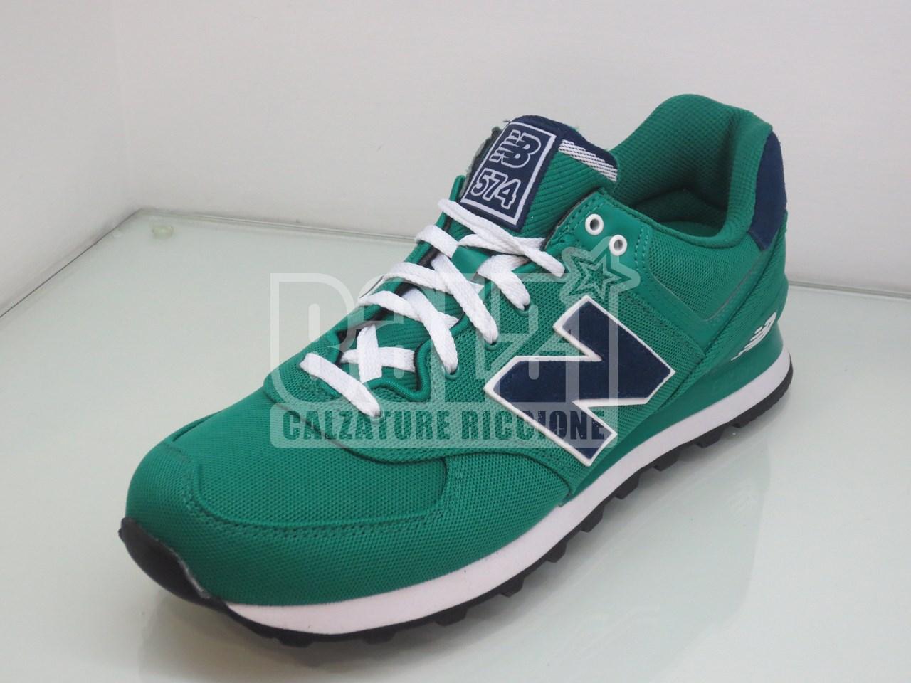 new balance 574 uomo verde