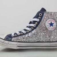 Vendita Online Converse All Star Glitter Blu - Balzi Calzature