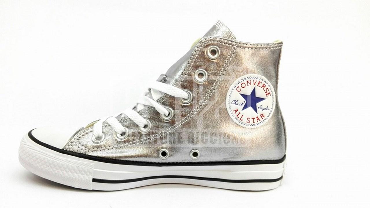 scarpe sportive 77ec7 92477 Converse All Star Argento Gunmetal Laminato