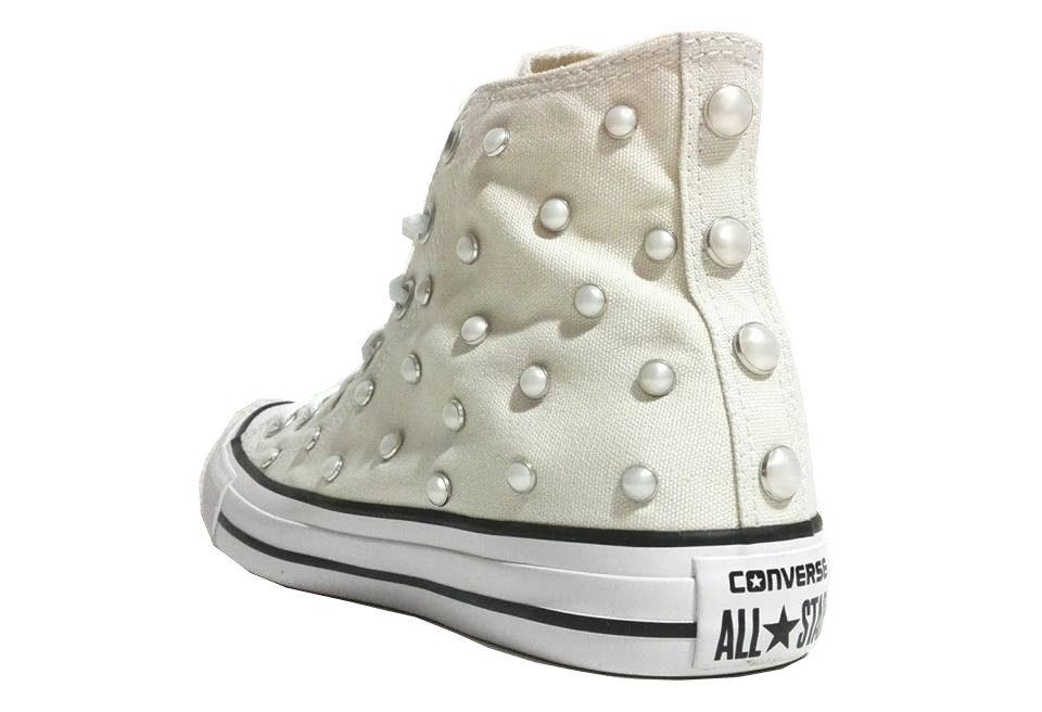 Converse All Star Perle personalizzate Bianco