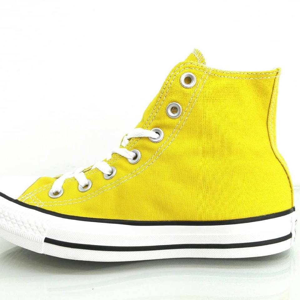08d4aeef25 Converse All Star Alte Canvas Gialle Bold Citron 163353C