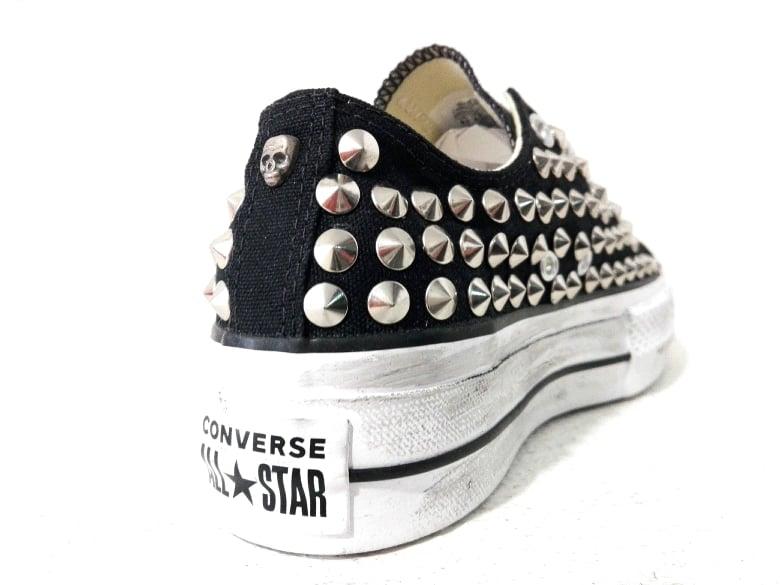 Converse All Star Nere Basse Platform Borchiate